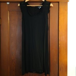 French Connection sexy sheer LBD with slip